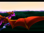 Spyro - Peaceful flight by illegal-spyro-fan