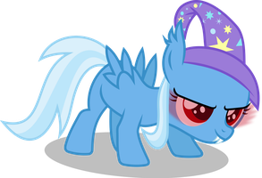 Trixie Filly Batpony by imageconstructor