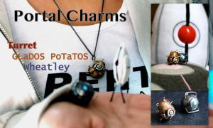 Portal Charms Turret PoTaTOS Wheatly by GandaKris