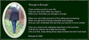 Enough Is Enough by VisualPoetress