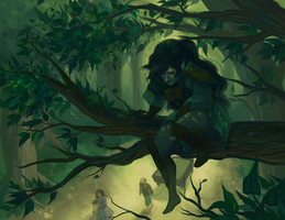Among the Branches by hyperionwitch