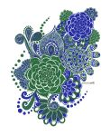 Blue-green Abstract by AnanyaArts