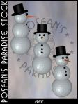 Snowman 003 by poserfan-stock