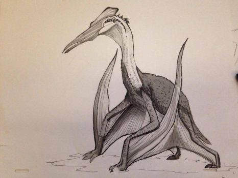 Day #7 Inktober - Quetzalcoatlus by Ginger-Ketchup