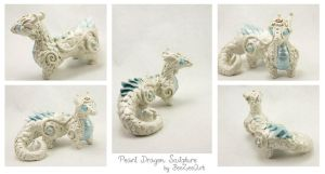 Pearl Dragon Sculpture by BeeZee-Art