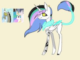 Mlp: Celestia x Discord for CalioCat by BlackTempestBrony
