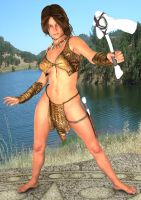 Jungle Girl With Axe by WibbitGuy