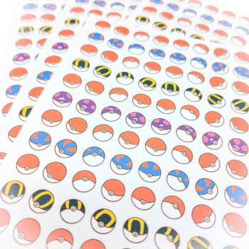 Pokeball stickers by FrozenNote