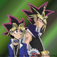 YuGi And Yami Colored by usagisailormoon20