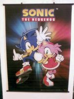 Wall Scroll: Sonic and Amy by Fuzon-S