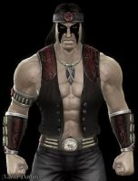 Black Metalhead Nightwolf by NatlaDahmer