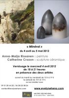 Invitation card to Mineral -Exhibition in Paris by Anna-Maija