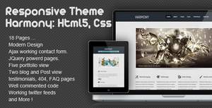 Harmony - Multipurpose Responsive Html5 Template by ahmedchan