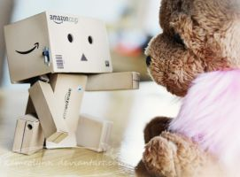 Danbo Makes A Friend by Kameolynn