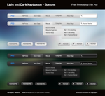Light and Dark Nav + Buttons by easydisplayname