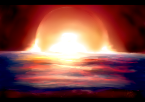 Firey Sun by Self-Eff4cing