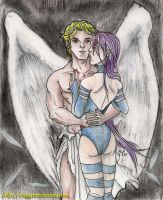 Angel and Psylocke Forever... by cirgy