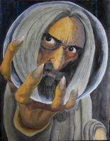 Saruman: Mixed Media by Wolf-In-Shadows