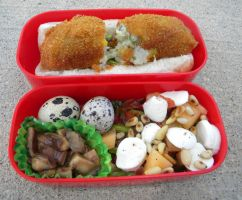 Spicy Wasabi Korokke Pan Bento by Demi-Plum
