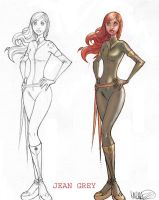 Jean Grey Before and After by MicahJGunnell