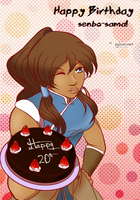Korra Cake -for senbo-sama- by sylvacoer
