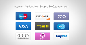 High Quality Payment Options Icon Set for Free by cssauthor