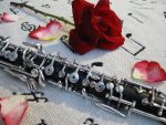 Oboe and roses by MoonlitReverie85