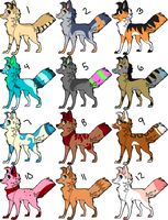 Dog Adoptables OPEN by Lionheart1o1
