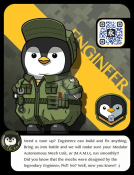 |M.A.M.U| - Penguin Pilot, Engineer Class by FrostKnight-IcE