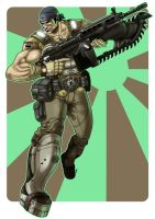 Marcus Fenix - Gears of War - Color by HotaruS