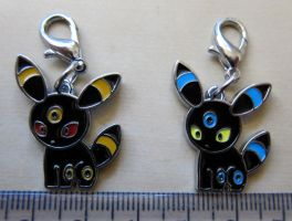 Pokedoll Style Charms: Umbreon + Shiny Version by winter-wish