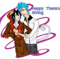 Thanksgiving day by fuzypurplehippykitty