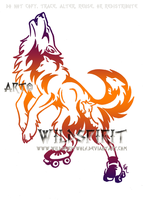Howl On Wheels Tattoo by WildSpiritWolf