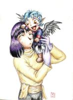 Xellos and Toddler Val by Zanne
