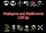 Skeletons and Skulls Icons by muutus