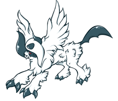 Mega-absol by TheAsinineCanine