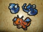 Pokemon Sprite Magnets - Dratini Family by UWorlds