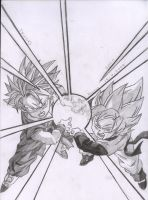 Goten And Trunks SSJ by kingvegito