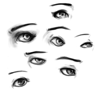 Eye sketches by pastakun