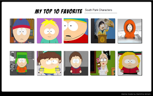 Top ten favorite SP characters by Suhamagirl