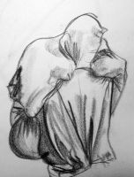 Gesture of a man in a sack by JakeGreen