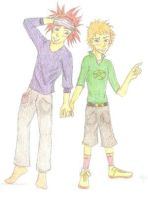 RenjiIchi Friends colored by Bleach-Lovers