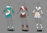 Outfit Collection Adopts - sold by Nahemii-san