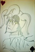 My first arlequin to the pencil by ARLEQUINLUST