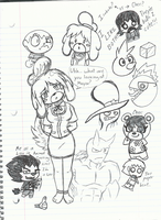 Animal Crossing Doodles by SpikeRamos
