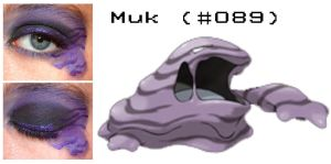 Pokemakeup 089 Muk by nazzara