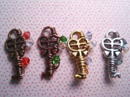 Wire Wrapped Keys by WaterGleam