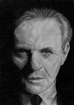 Anthony Hopkins Drawing by Ozzie-Freitas
