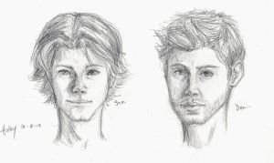 Winchester boys sketches by blindbandit5