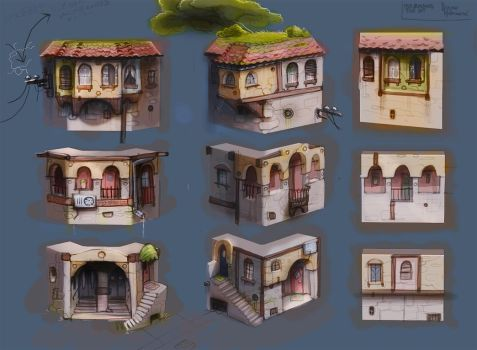 old building tile-set concept1 by sittingducky